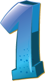 Colourful 3D shaped number 1 used for a numbered list