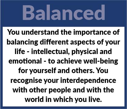 Learner Profile - Balanced Definition