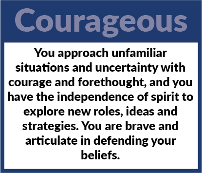 Learner Profile - Courageous Definition