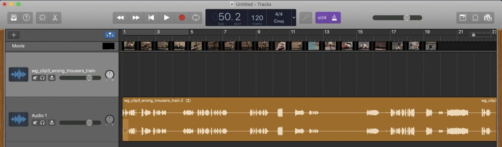 GarageBand - The video's audio track has been deleted and its duplicate remains