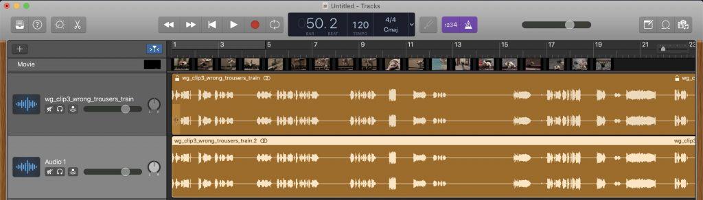 GarageBand - A duplicate of a video's audio track