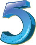 Colourful 3D shaped number 5 used for a numbered list