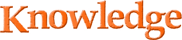 Orange title that says Knowledge