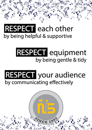 Respect each other, respect equipment, and respect each other